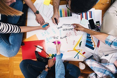 designers brainstorming wraps
